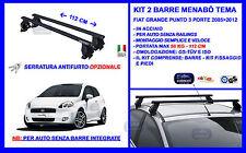 Barre Portatutto - Portapacchi  -Portabagagli Fiat Grande Punto 3Porte  2005>12