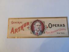 antique, vintage advertising poster for General Arthur Operas Cigars circa 1900