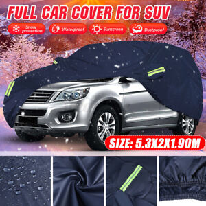 SUV Full Car Cover Waterproof Sun Rain Dust Resistant Protection All Weather XXL