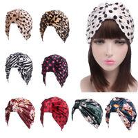 Women Muslim Cap Stretch Chemo Cap Velvet Bonnet  Beanie Pile Cap Printed New