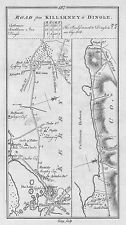 1778 Ireland Kerry Killarney Limerick Tipperary etc Antique Road Map