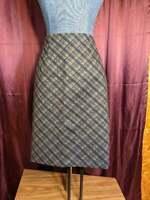 NEW Amanda + Chelsey Gray Plaid Skirt Women 12 Lined NWT Closet126*