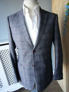 Mens BNWOT WITHOUT PREJUDICE PofWales check  Jacket UK 40 RRP £335