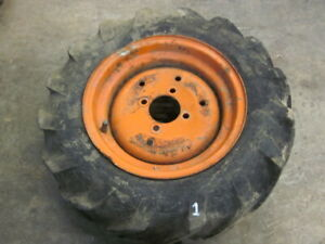 Kubota B6000 B 6000 4x4 Diesel Tractor Front Tire Rim Wheel 6x12 6 - 12 6-12