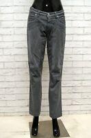 Pantaloen JECKERSON Donna Taglia 31 Jeans Pants Woman Cotone Grigio Gamba Dritta