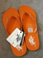 U.S. POLO ASSN Barclay unisex flip flops in orange UK 7 US 8 EU 41
