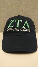 ZETA TAU ALPHA sorority hat cap big little greek letters 0668