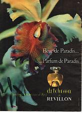 PUBLICITE ADVERTISING 114  1955  REVILLON  parfum  DETCHEMA