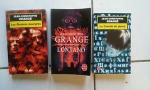 lot 3 thrillers Jean Christophe Grange Lontano, rivières pourpres, concile de pi