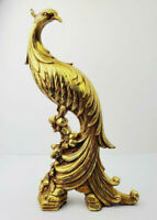 "Vintage Syroco Ornamental Hollywood Regency Style Pheasant Gold- 13"" Tall- AS IS"