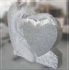 Grabstein 80x20x80cm, knieender Engel mit gewölbtem Herz, NEU!!!