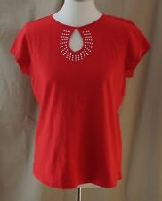 Karen Scott Sport, Medium, Red Knit Top