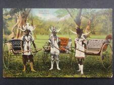 South Africa RICKSHA BOYS and their Ricksha c1913 - Bill Hopkns Collection