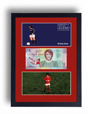 FRAMED LIMITED EDITION GEORGE BEST FIVER NOTE £5 POUND BANKNOTE