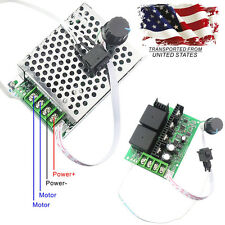 10V-50V 40A PWM DC Motor Speed Controller CW CCW Reversible Switch 12V 24V US
