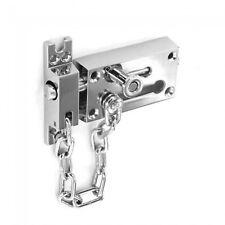 Polished Chrome Finish Door Security Door Bolt & Chain (B1637)