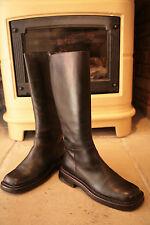 Rara Vintage Prada Hombre Cuero Marrón Oscuro Estilo Motero Zapatos Botas Altas Uk 6