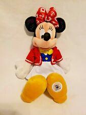 "Disney Cruise Line Minnie Mouse Red White Nautical Anchor 11"" Plush Stuffed Toy"