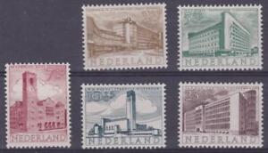 Netherlands 1955 - B276-80 Semi-postals (Buildings) Set of 5 - MLH