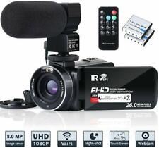 Video Camera Camcorder WiFi IR Night Vision FHD 1080P 30FPS YouTube Vlogging New