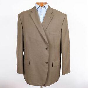 Haggar 52R Big Mens Medium Brown 2 Button Blazer Sport Coat Jacket 135