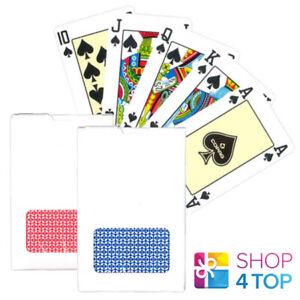 2 COPAG BRIDGE SIZE PLAYING CARDS DECKS 100% PLASTIC RED BLUE BACK WHITE BOX NEW