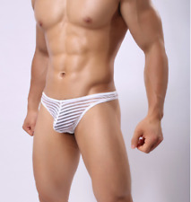 String taille M blanc transparent NEOFAN sheer mec sexy Ref NY12
