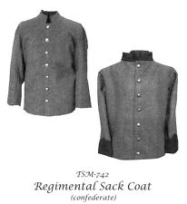 Men's Civil War Confederate Sack Coat 34-58 Timeless Stitches Sewing Pattern 742