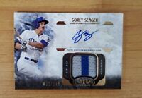 2016 TOPPS TIER 1 AUTO RELIC  Corey Seager RC Rookie Game Jersey #/149 ATIR-GSE
