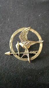 Popular Hunger Games Badge Mockingjay Bird Pin Bird Brooch Colour Bronze