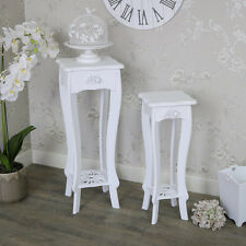 lampada bianca occasionale tavolino set di 2 francese shabby chic vintage
