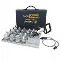 AcuZone Premium Quality Cupping Set - 19 Cups carrying case