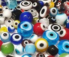 30 Nazar Boncuk Bunte 4~15 mm Türkei Perlen Evil Eye Blau Augen Schmuck R228