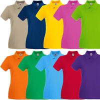 Fruit of the Loom Premium Damen Poloshirt Polo T-Shirt XS S M L XL XXL