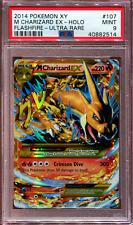 M Charizard EX - Secret Rare - XY Flashfire - 107/106 - PSA 9