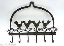 Gancho gancho Board barra gancho de muro guardarropa 40 x 31cm 6 ganchos de hierro hierbas gancho