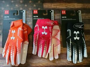 Under Armour UA F6 Football Receiver Glue Grip Gloves Adult-Youth