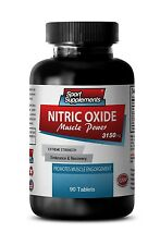 L-Arginine - Nitric Oxide Muscle Power 3150mg - Muscle Engorgement Pills 1B
