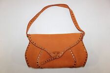 FREE SHIPPING Genuine Celine Orange Leather Womens Handbag Baguette Hobo Purse