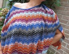 MISSONI/ multicolored/PONCHO/WRAP/CAPELET/CHEVRON/1 SIZE