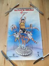 Vintage1979 World Cup 2 Poster Olympic Stadium Montreal Seagrams Distillers rare