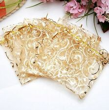 Jewelry Candy Organza Pouch Bags Wedding Party Favor Gift 9X11cm 10PCs