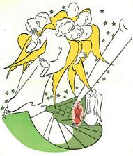 Die TREPPE in den HIMMEL Stairway To Heaven L.G.KELLER - OriginalFarbholzschnitt