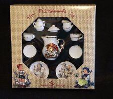 MJ Hummel Miniature Tea Set NEW Orig Box Porcelain Reutter Germany Umbrella Icon