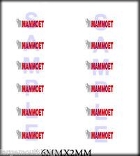 NEW PEEL & STICK RSP BOLEY 1/87 HO SCALE VEHICLE DOOR DECALS MAMMOET CRANE