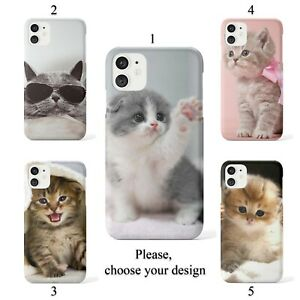 Lovely kittens case for iphone 11 12 XR Pro SE Max X XS 8 plus 7 6 cover SN