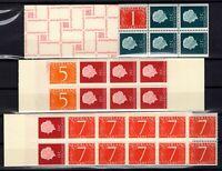 132202/ NETHERLANDS – BOOKLETS – Y&T # C600AcA - C611a - C612a MINT MNH