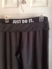 NIKE DRI-FIT RUNNING JUST DO IT Cropped Running Pants SZ M Athletic GUC