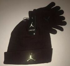 Nike Air Jordan LOGO Stretch Knit Beanie Hat & Glove Set 9A0124-R5Y Size 8/20