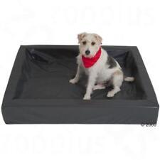 GRANDE XL Grigio Igienico per Cani Pet Memory Foam Confortevole LETTO RILASSANTE IN FINTA PELLE